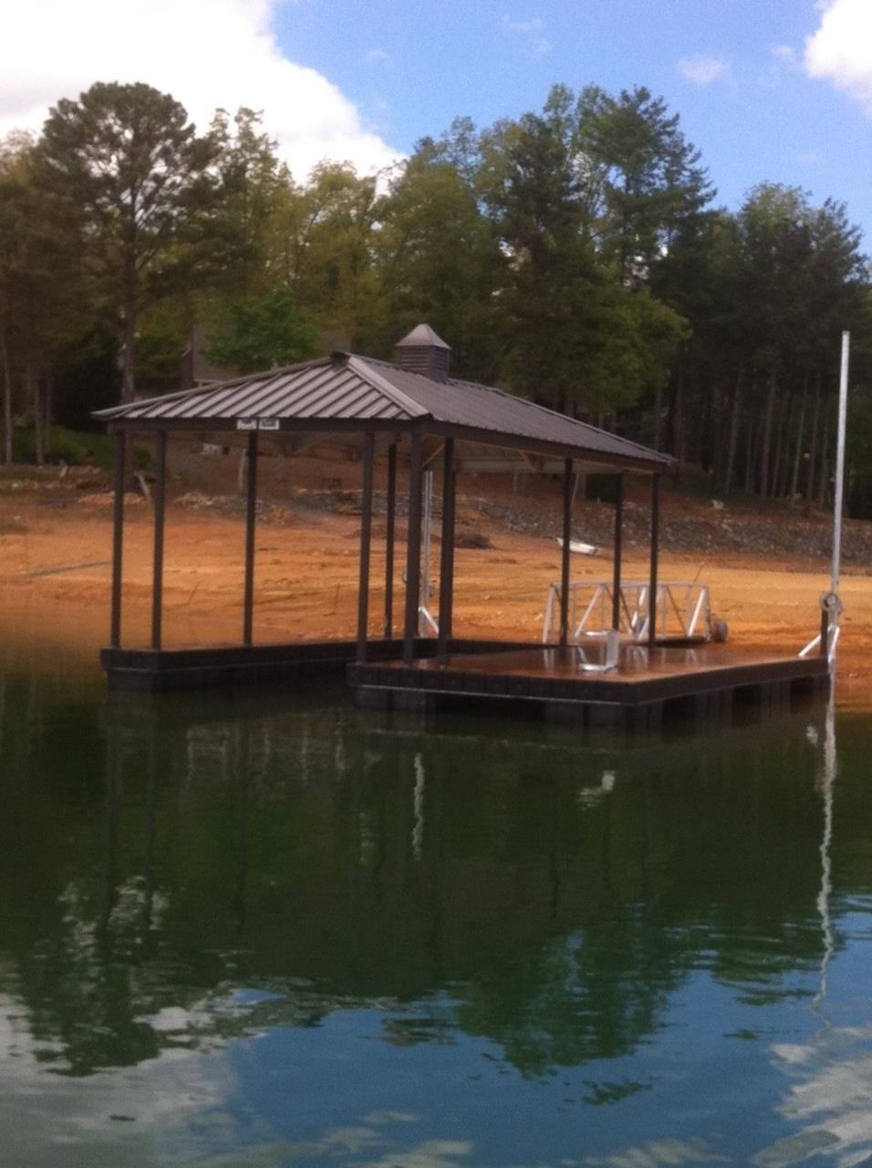 NGBL North Georgia Boat Lift - Marine Construction Co. Installs Wahoo CAT 3 Aluminum Floating Boat Dock