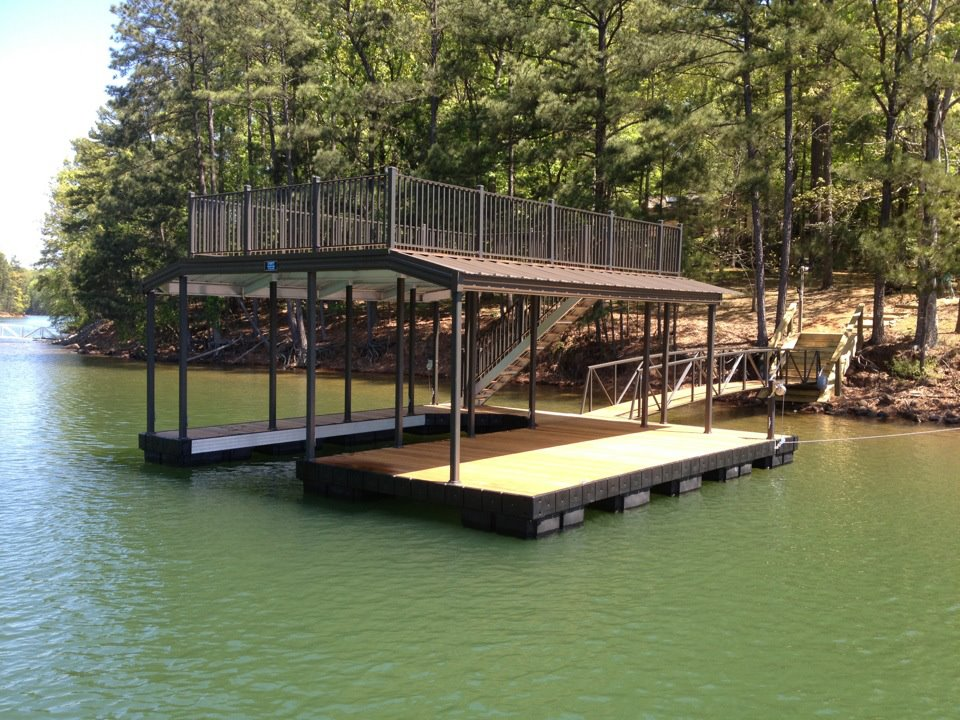 Aluminum Dock with Sundeck Allatoona