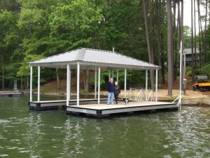 Wahoo Dock Installed by Casey Custom Docks