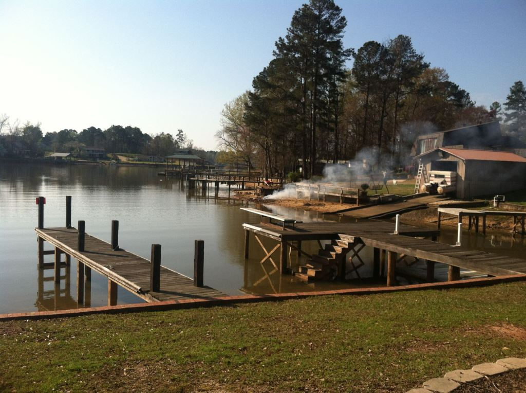 Lake Martin wooden boat dock