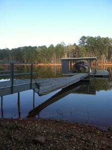 West Point Lake boat dock