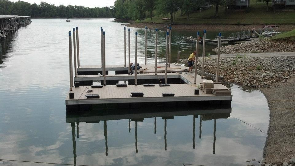 floating dock at Tim's Ford from Dockscapes