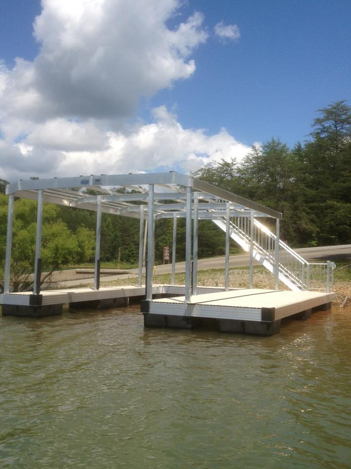 lake nottely ngbl boat dock installation