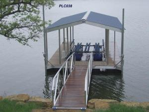 CAT5 auminum boat dock single slip with gable roof