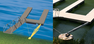 Floating Dock Anchoring Systems From Wahoo Docks